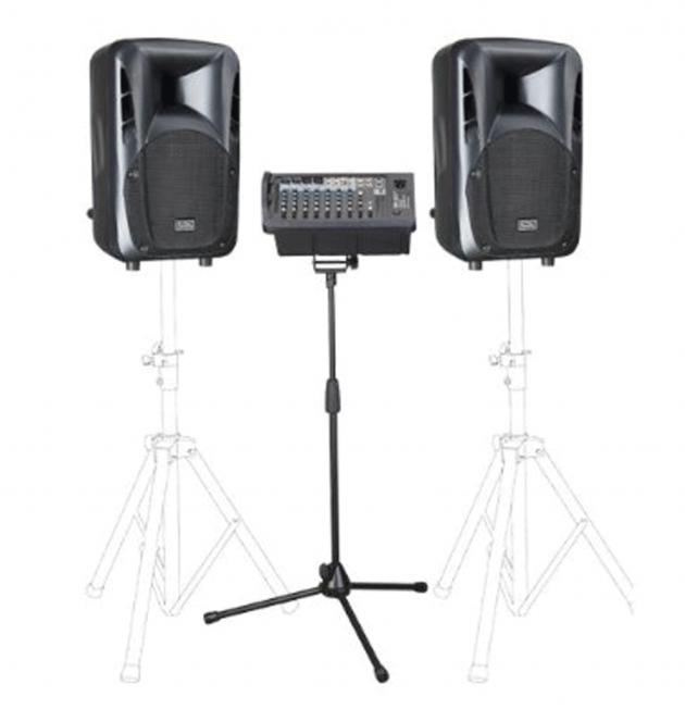 PAP10套裝喇叭 + W106RTH無線麥克風 1