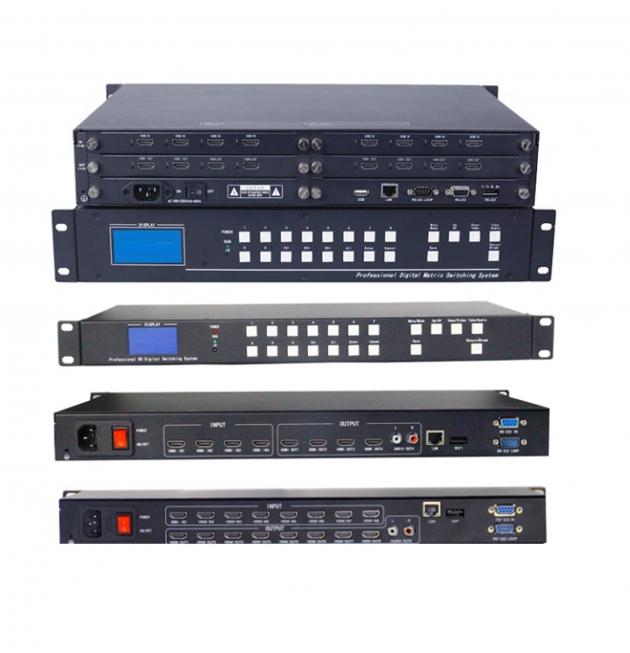 多功能數位4K HDMI / 類比矩陣切換機 模組式 HD – 8 X 8 PRO / HD – 8 X 8 / 4 X 4 1