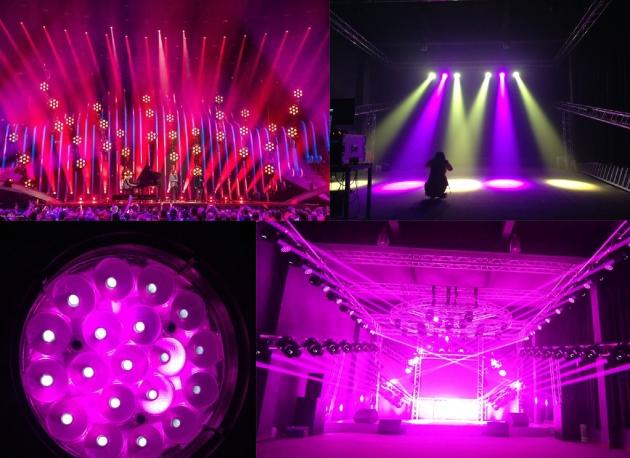 高浪防水LED19顆40W搖頭染色燈 2