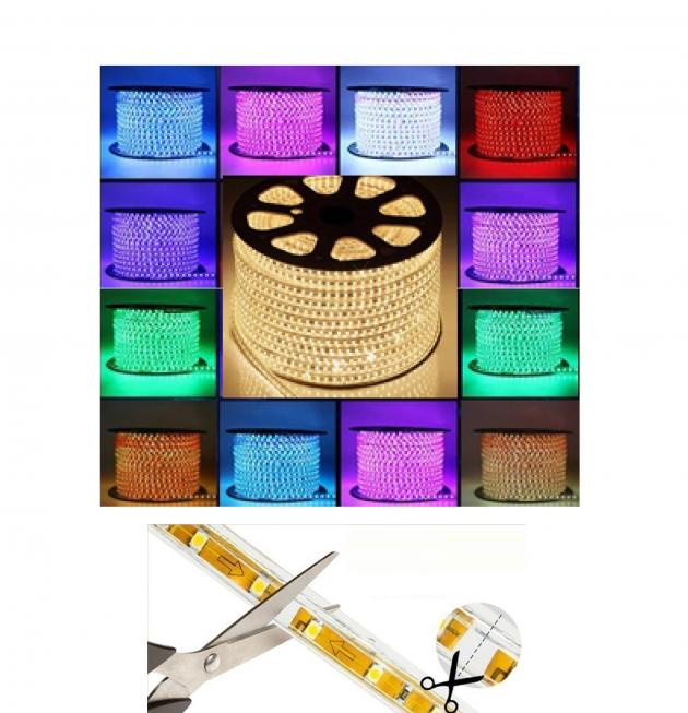 LED 5050(3528) 無導線防水燈條 (無須電源供應器)  20公分一剪 80米一捲 1