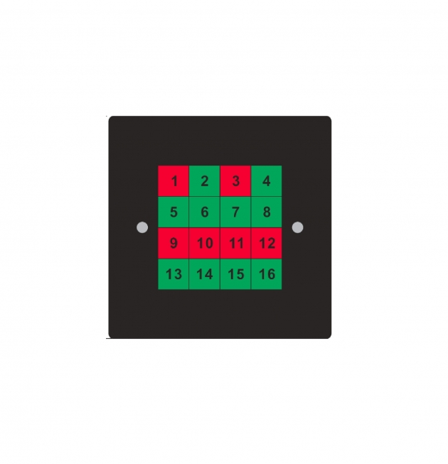 DMX RJ45 簡易型16鍵控制面板 1