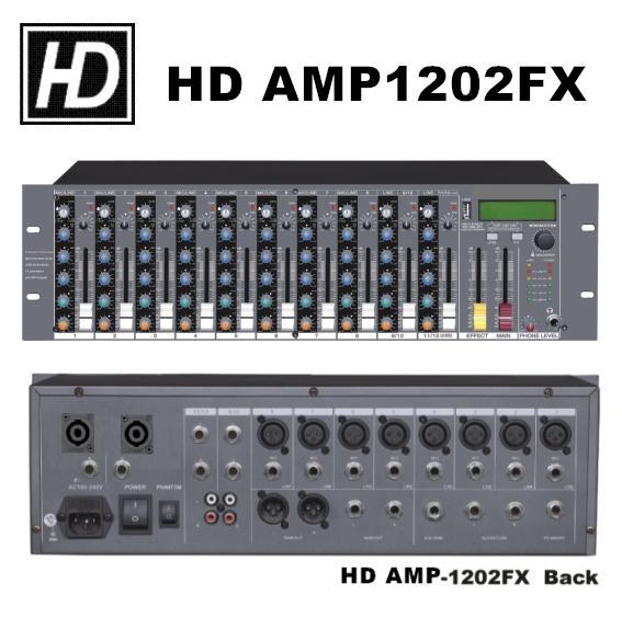 AMP1202FX機櫃型混音擴大器 1